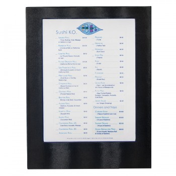 LED Menu Holder - Black Clr. - Displays 1 x A4 Paper / Transparent inserts.