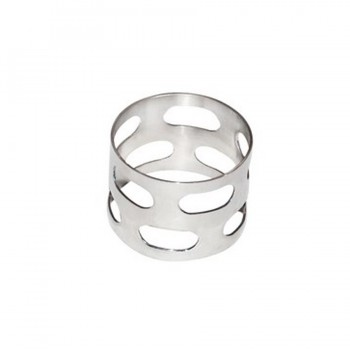 Sensation Mirror Stainless Steel Round Napkin Rings - Set of 4
