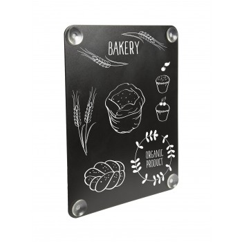 Securit Window Chalk Board - Double sided writing surface -black,