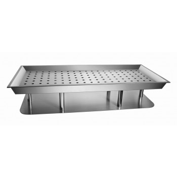 Sensation Brushed Stainless Steel Ice Platter with Liner and Drain