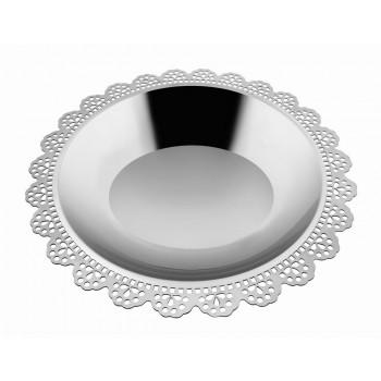 Doily Mirror Stainless Steel Round Platter