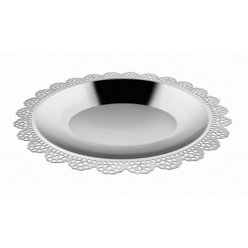 Doily Mirror Stainless Steel Oval Platter