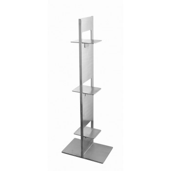 Sensation Brushed Stainless Steel Riser Stand (Set of 2)