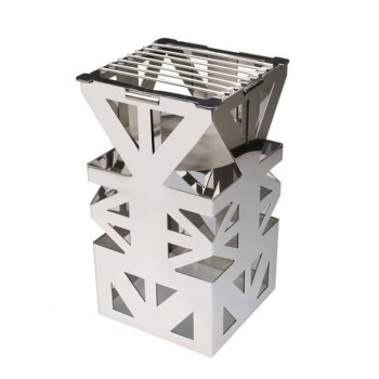 Fat Free Mirror Stainless Steel Square Food Warmer Riser with Grill
