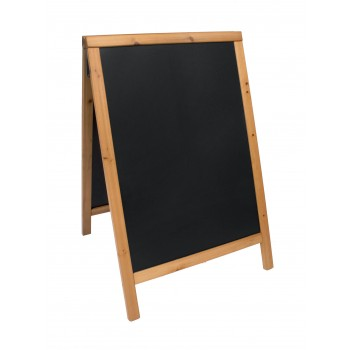Securit Duplo Pavement Chalk Board - Teak