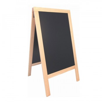 Mini Pavement Chalkboard/Poster Holder. Plain lacquered wood, A5