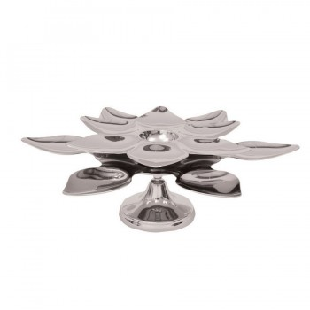 Heritage Mirror Stainless Steel Lotus Centerpiece w/ Pedastal