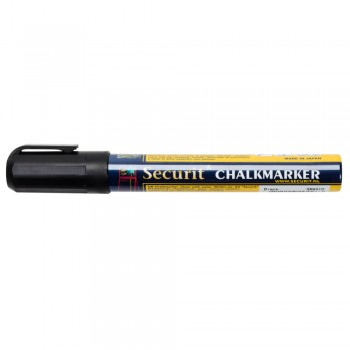 Securit Chalk Marker - Black - Medium - 2-6mm Nib