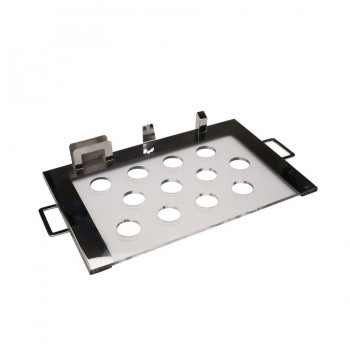 Pi Stainless Steel Snack Server with Acrylic Insert and 12 holders
