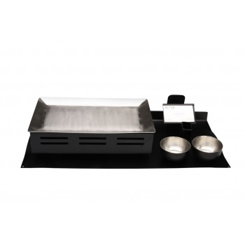 Transformer Modular Magnetic Matt Black Snack Warmer Set