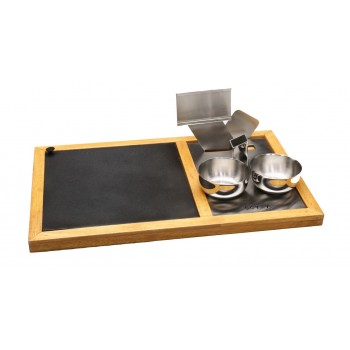 Hot Plate Snack Warmer Set