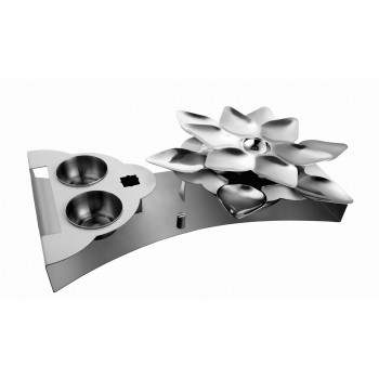 Lotus Mirror Stainless Steel Snack Warmer Set