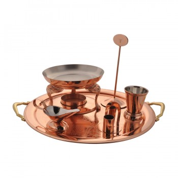 Queen Anne Rose Gold Finish Snack Server Set
