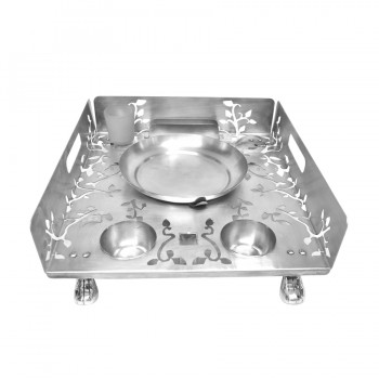 Queen Anne Stainless Steel Laser Cut Snack Warmer Set