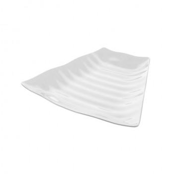 Dalebrook White Melamine Curved Wavy Platter w/SF