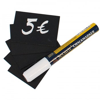Chalk Board Tags A5 (washable) - Including Chalk Marker - Set of 10
