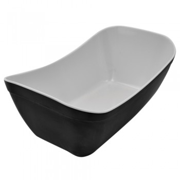 Dalebrook Black/White Matt Melamine 1/4 Verdura Crock