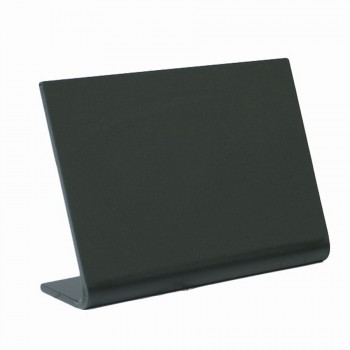 Vertical L-shaped A8 table chalk board. Frosted front with a gloss back - 5 pcs.