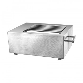 Presidential Hammered Stainless Steel Rectangular Live Cooking Station