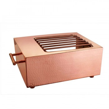 Masala Hammered Copper Finish Rectangular Live Cooking Station