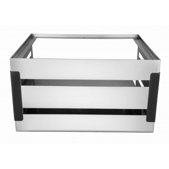 Crate Brushed SS and Black Trim Modular Buffet Station (Stand Only)