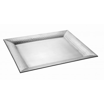 Serenity Hammered Brushed Stainless Steel Tray