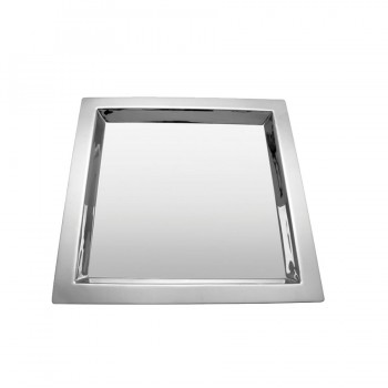 Brooklyn Mirror Stainless Steel Square Tray