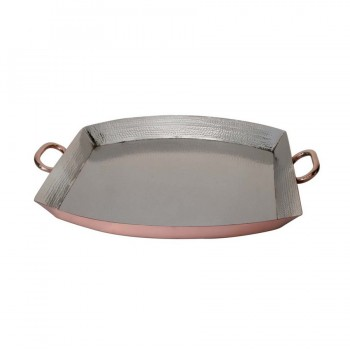 Masala Hammered Copper Finish Square Tray