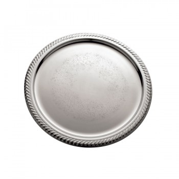 Gadroon Etched Mirror Stainless Steel Round Tray