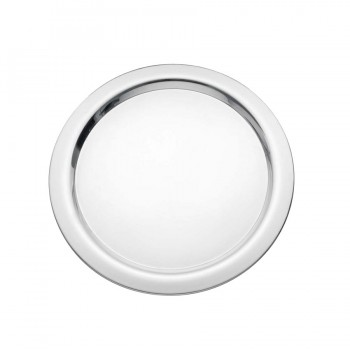 Basic Mirror Stainless Steel Round Tray