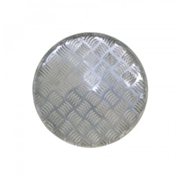 Basic Aluminum Diamond Round Tray