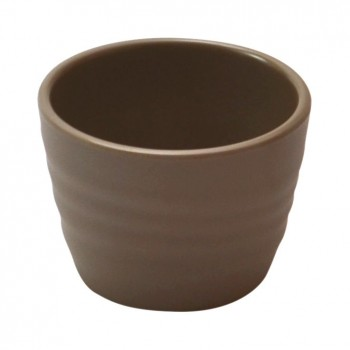 Stone Melamine Rippled Ramekin
