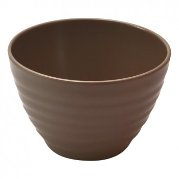 Stone Melamine Rippled Bowl