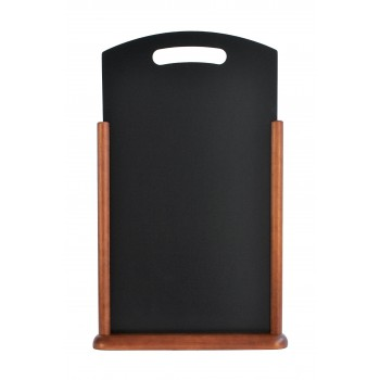 Securit Handle Large Table Chalk Board - Wood with lacquered dark brown finish