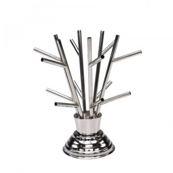 MiniBytes Stainless Steel Tasting Tree Bambooshoot w/12 Holders