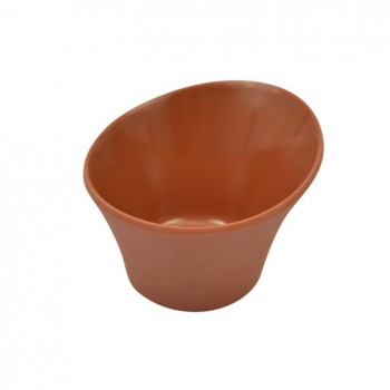 Terracotta Matt Melamine Reef Small Bowl