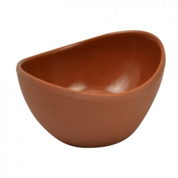 Terracotta Matt Melamine Reef Small Oval Bowl