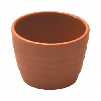 Terracotta Melamine Rippled Ramekin