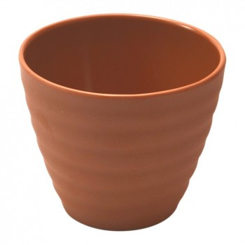 Dalebrook Terracotta Melamine Rippled Pot