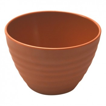 Terracotta Melamine Rippled Bowl
