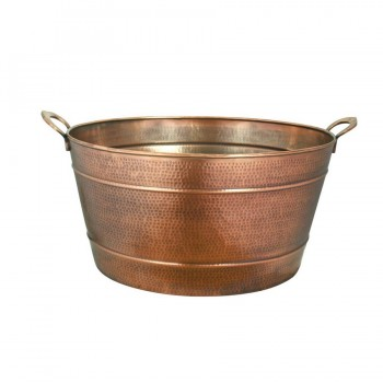 Marrakech Burnt Copper Finish Hammered Oval Tub