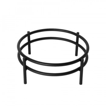 Marrakech Black Matt Round Bowl Stand