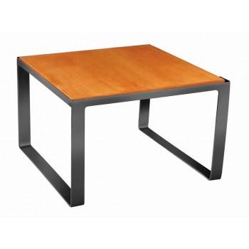 Industrial Matt Black Square Riser with Wooden Platform
