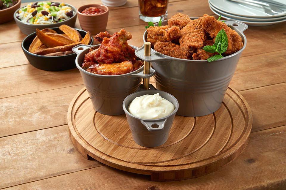 Melamine Ranch Snack Server