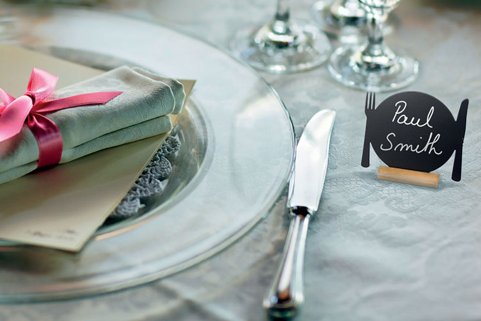 Table Chalk Board-Mini Plate