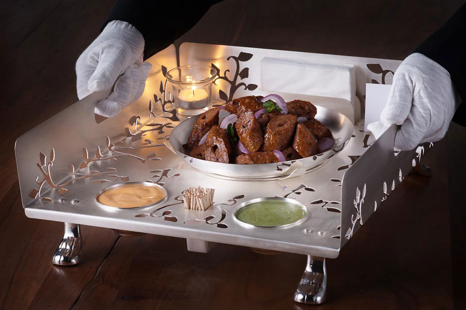Silver Plated Laser Cut Snack Warmer