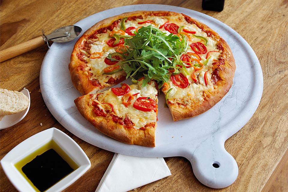 Melamine Marble Effect Pizza Platter